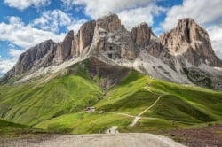 Sassolungo in the Italian Dolomites