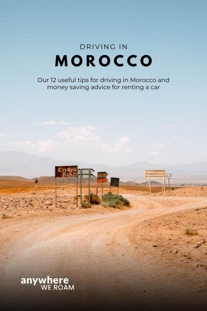 Planning a road trip to Morocco? Here are 12 useful tips for driving in Morocco and some money saving advice for renting a car. #morocco #roadtripmorocco #travelmorocco