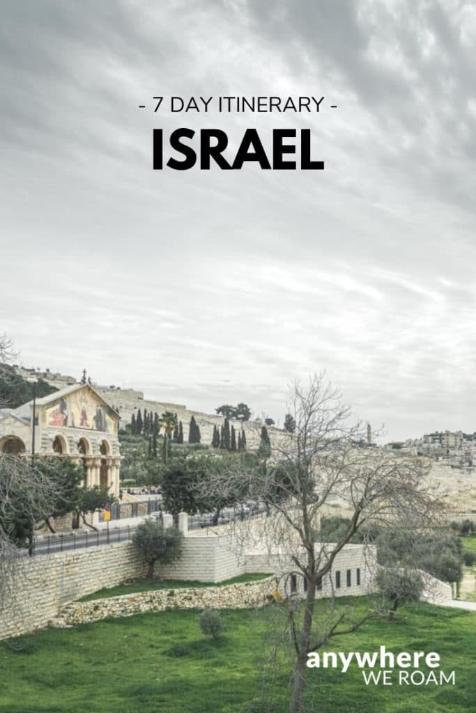 7 day Israel itinerary collecting all the fascinating historical sites. / Israel travel guide / #israel #jerusalem #telaviv