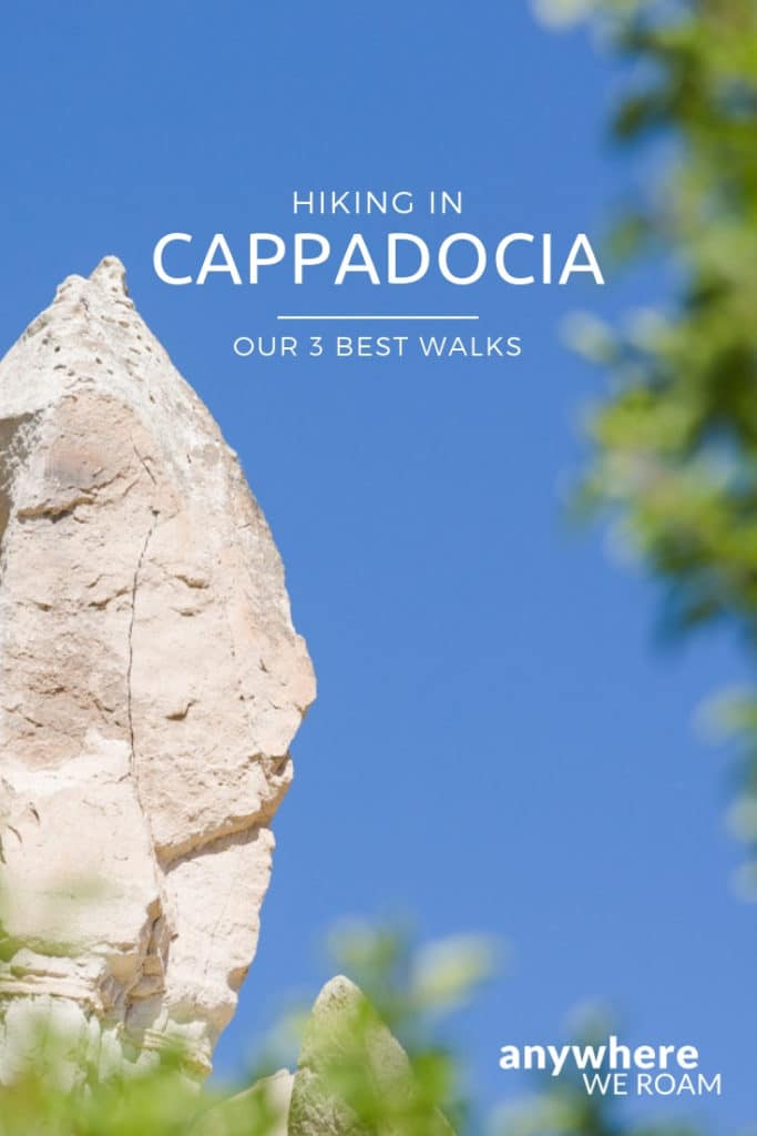 Our detailed guides for 3 great walks. Hiking in Cappadocia, Turkey. #cappadocia