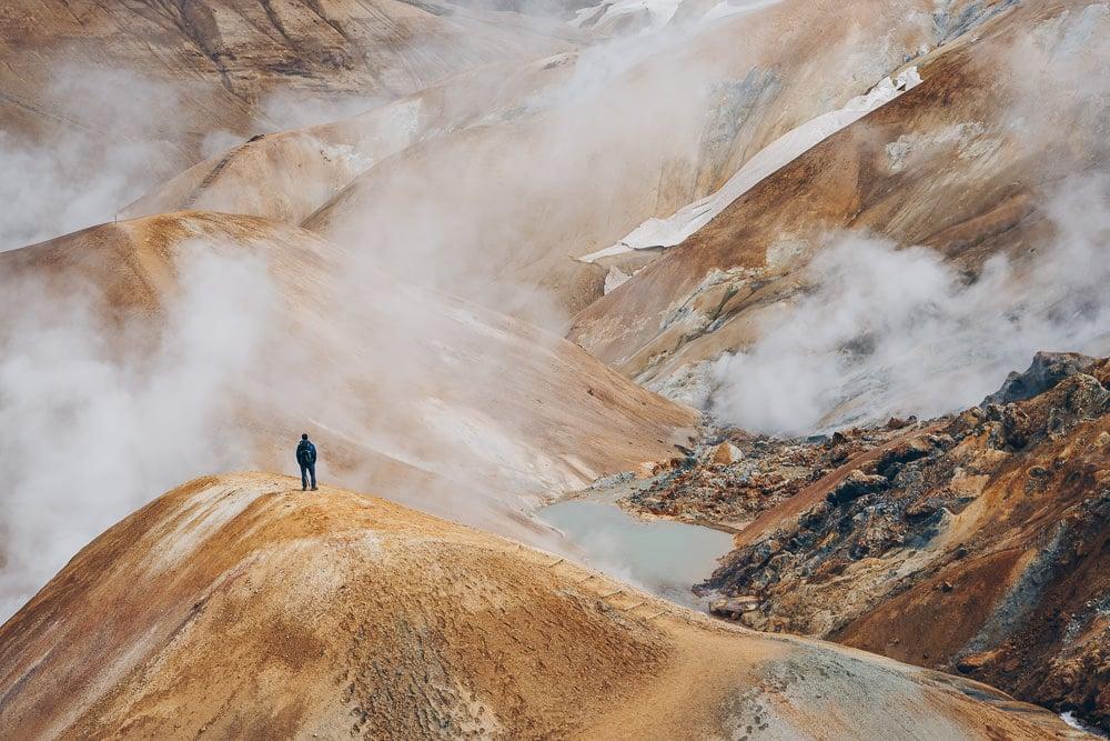 Hiking in Kerlingarfjöll, Iceland, Hveradalir
