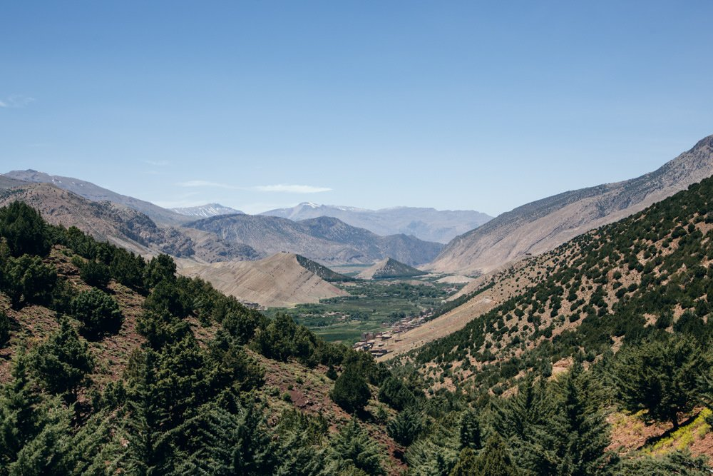 Hiking in the Aït Bouguemez Valley, Morocco
