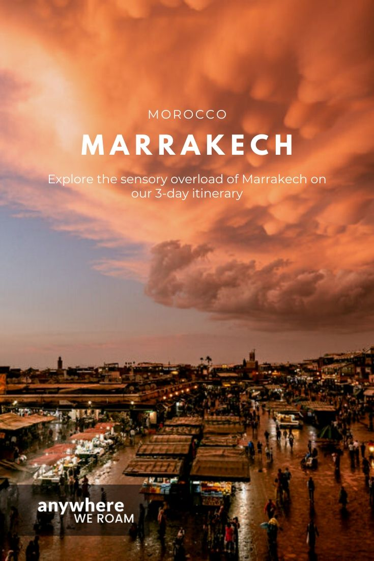 Marrakech is another world with sensory overload down every tiny cobbled lane. Our 3-day Marrakech itinerary explores all that is best of a very different culture as well as providing tips on where to stay and how to get around. #visitMarrakech #visitmorocco