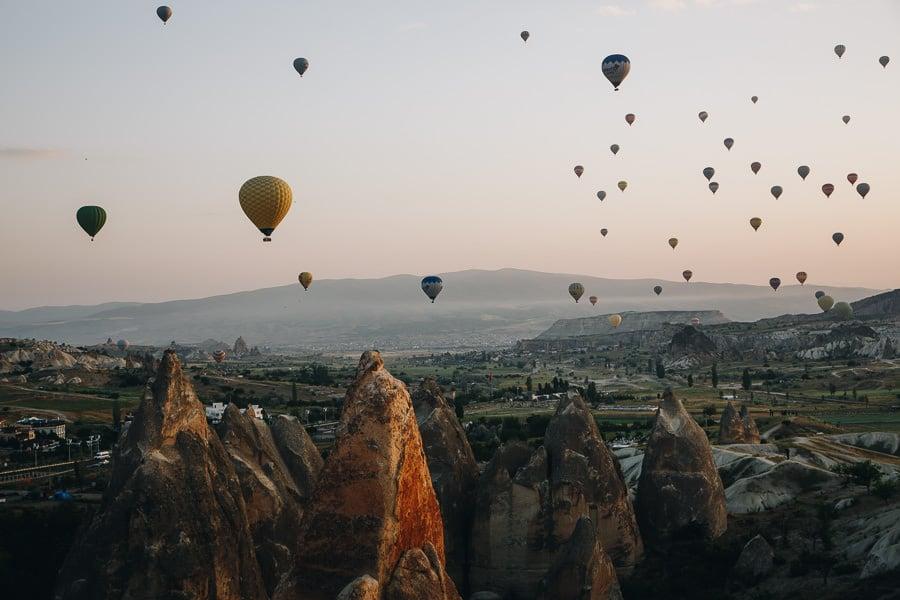 Cappadocia balloons, Turkey itinerary
