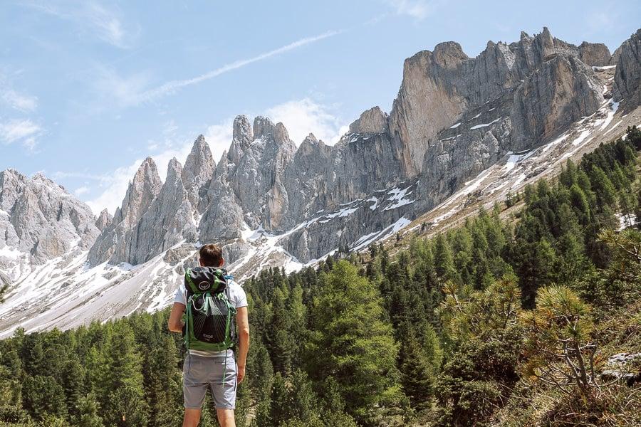 Aldolf Munke Trail Dolomites hike