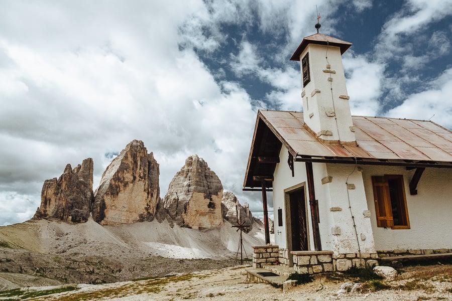 Tre Cime Hut, Dolomites hiking