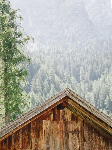 Mountain hut in Braies Valley