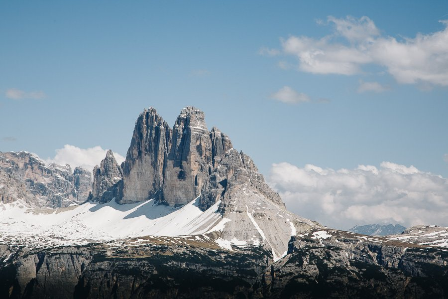 Monte Specie view of Tre Cime from Prato Piazza