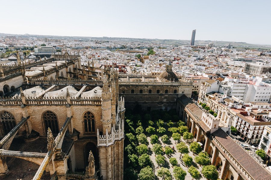 View from Giralda Tower, Seville Itinerary