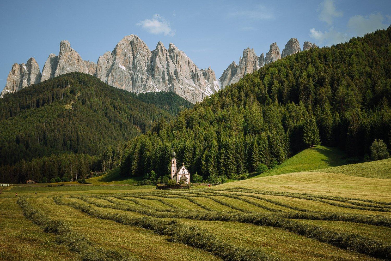 Val di Funes, Italy, Dolomites, Santa Maddelena Church