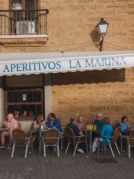 tapas bars in Cádiz, Spain