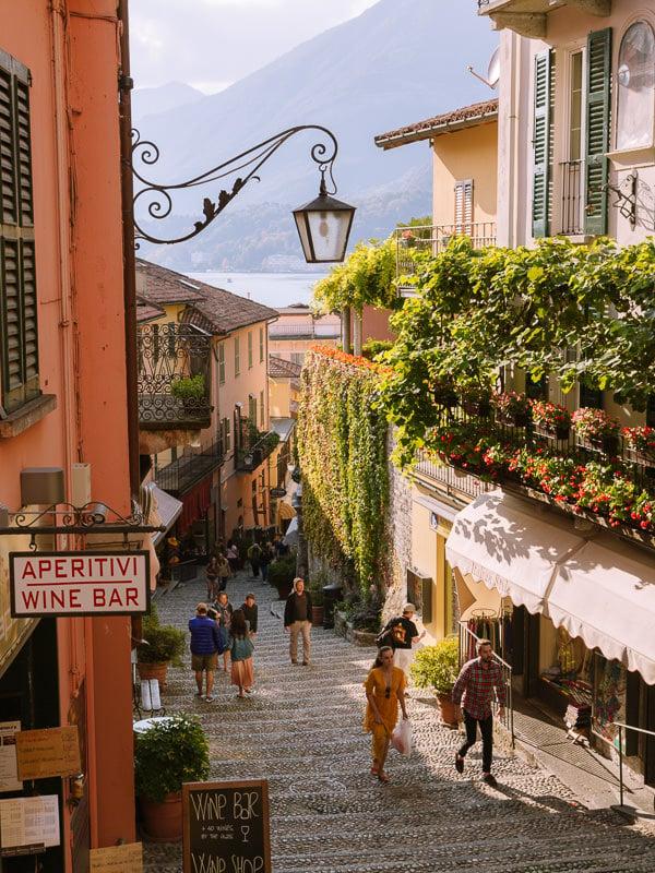 bellagio town italian alps
