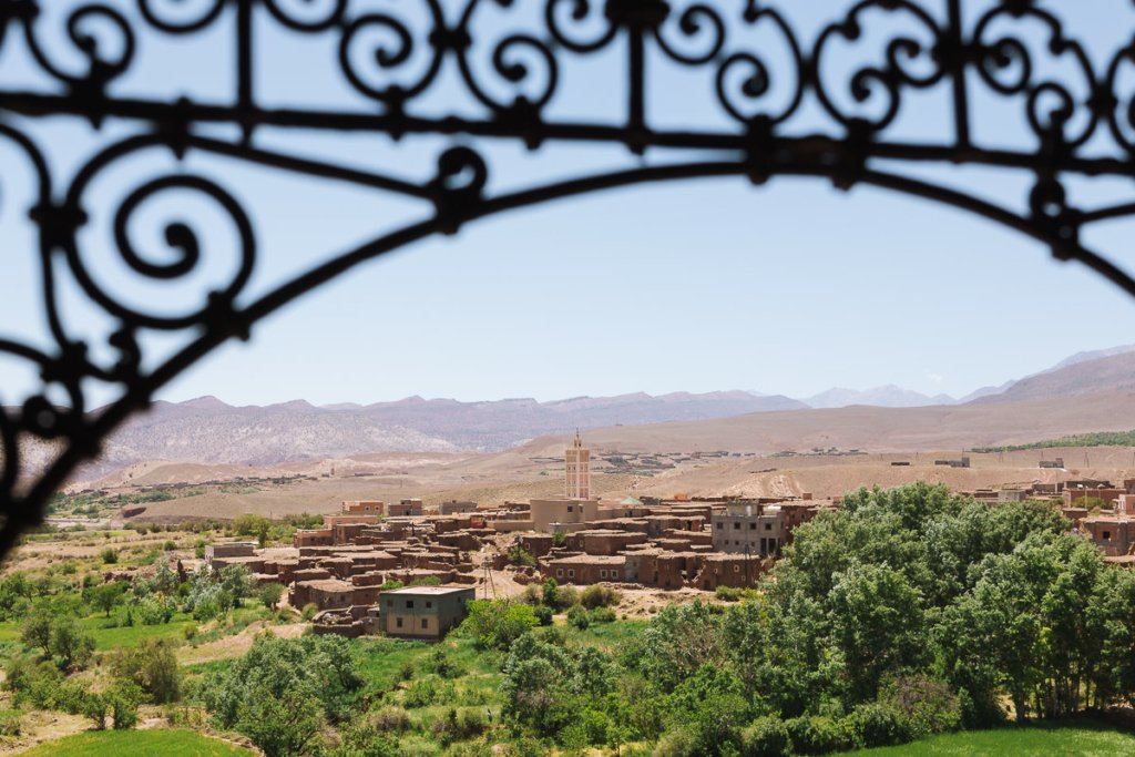 Kasbah with the Atlas Mountains in the distance