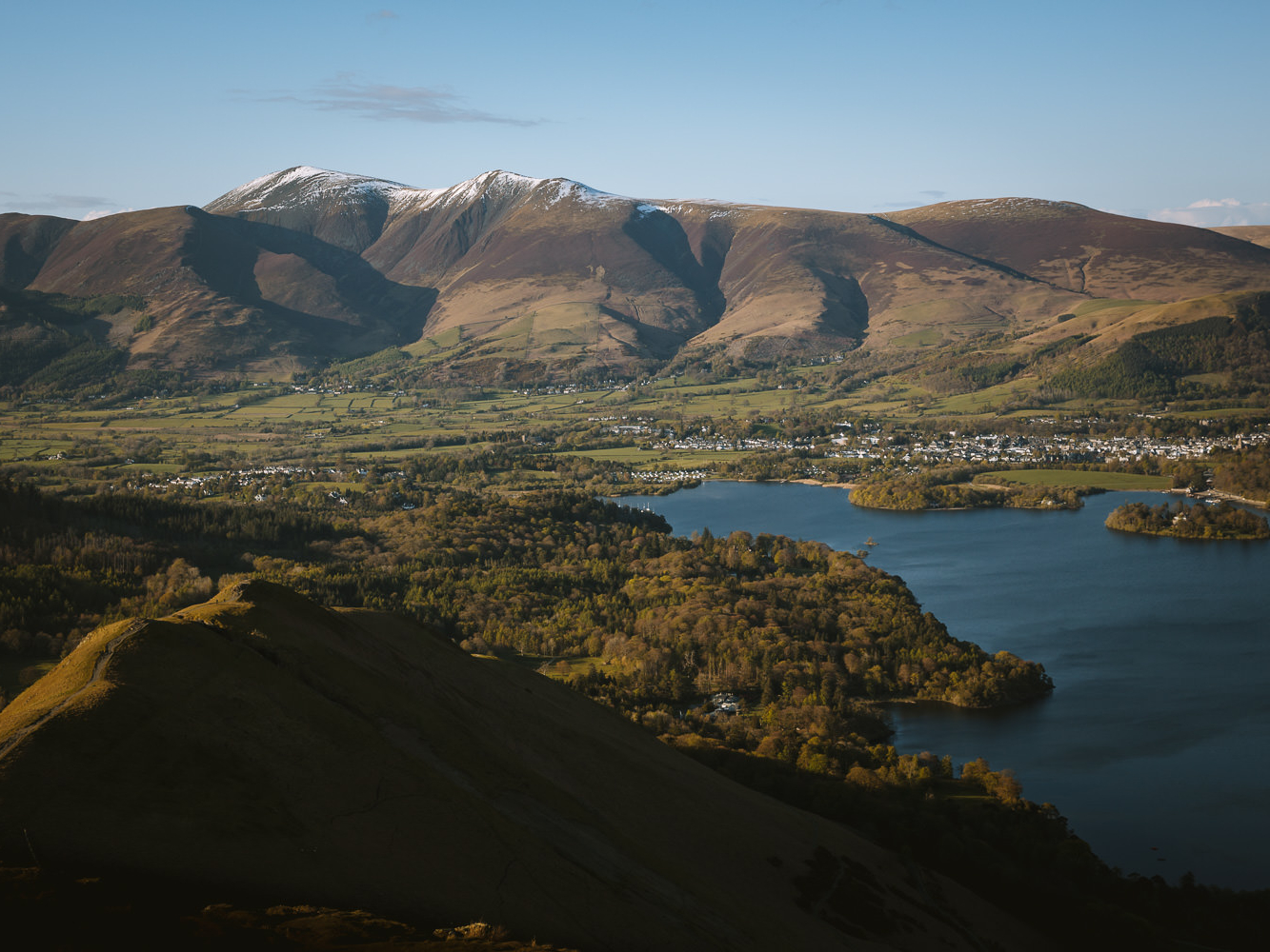 Keswick from Catbells, best view Lake District