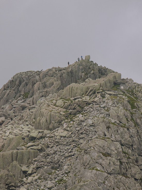 people on top of a rocky summit